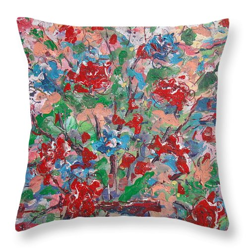 Painting Throw Pillow featuring the painting Full Bloom. by Leonard Holland