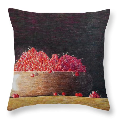 Still Life Throw Pillow featuring the painting Full Life by A Robert Malcom