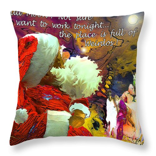 Fantasy Painting Throw Pillow featuring the painting Full Moon by Miki De Goodaboom