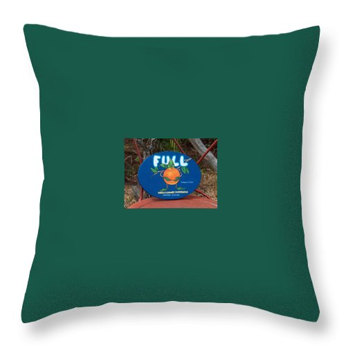 Full Oranges Throw Pillow featuring the painting Full by Racquel Morgan