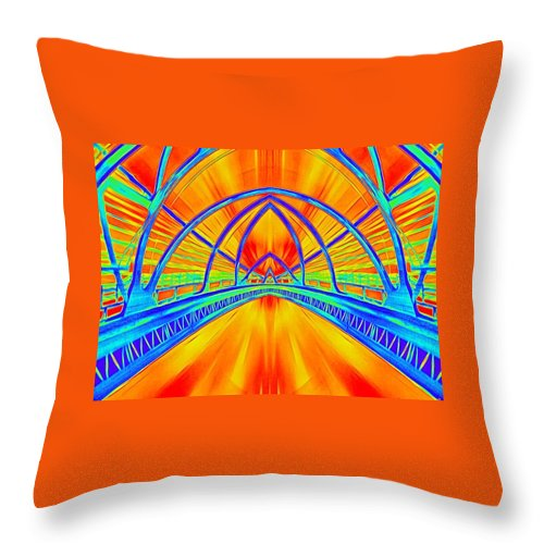 Fantasy Throw Pillow featuring the digital art Full Speed Ahead by Nella Marie