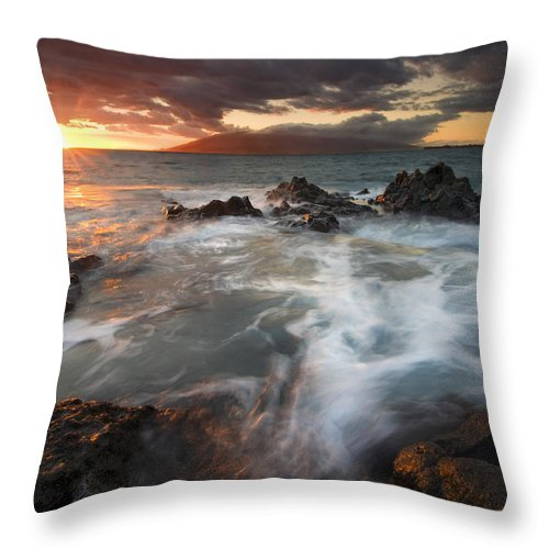 Cauldron Throw Pillow featuring the photograph Full To The Brim by Mike Dawson