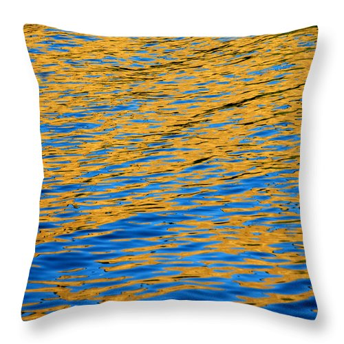 Water Throw Pillow featuring the photograph Fully Involved by Donna Blackhall