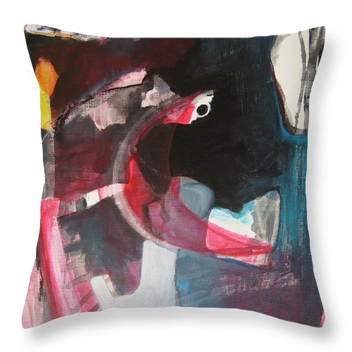 Abstract Paintings Paintings Abstract Art Paintings Throw Pillow featuring the painting Fumbling With Memory by Seon-Jeong Kim