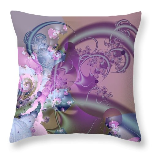 Abstract Throw Pillow featuring the digital art Fun And Weird by Frederic Durville