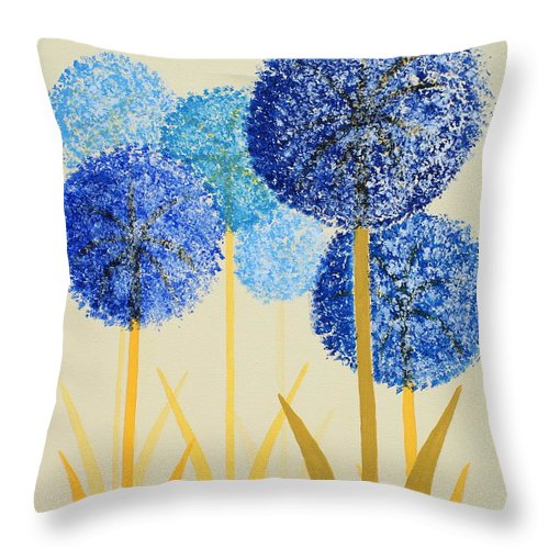 Art Decor Throw Pillow featuring the painting Fun Colours 2 by Frank Hamilton