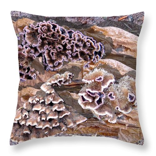 Fungi Art Throw Pillow featuring the digital art Fun Guy by Ron Bissett