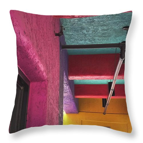 Fun House Throw Pillow featuring the photograph Fun House by Skip Hunt