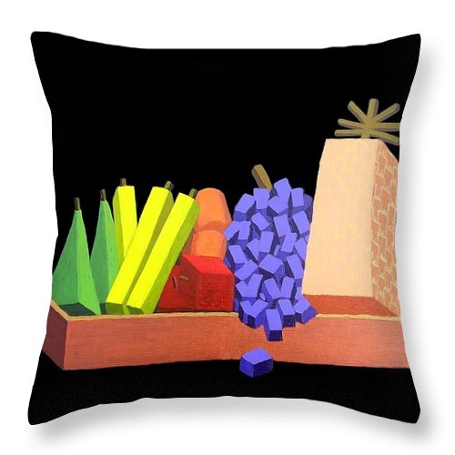 Still Life Throw Pillow featuring the painting Fun Still Life. by Frank Hamilton