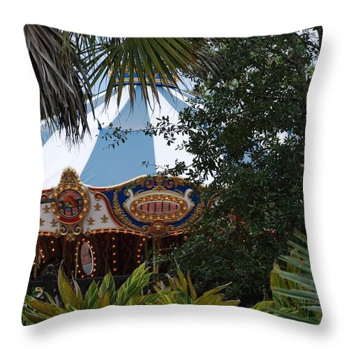 Architecture Throw Pillow featuring the photograph Fun Thru The Trees by Rob Hans