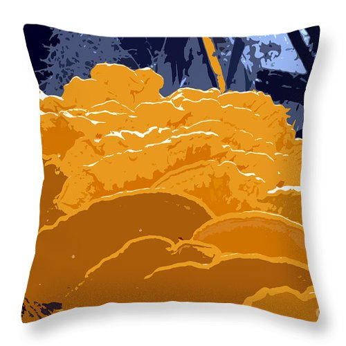 Fungi Throw Pillow featuring the photograph Fungi Work Number 4 by David Lee Thompson