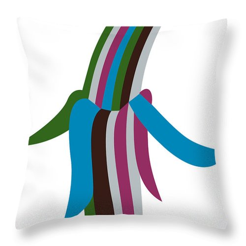 Throw Pillow featuring the digital art Funky Banana by Asbjorn Lonvig