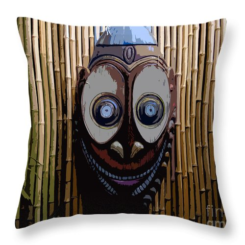 Funny Throw Pillow featuring the digital art Funny Face by David Lee Thompson