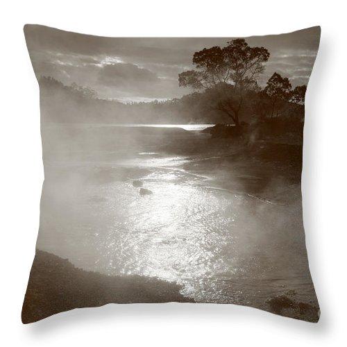 Furnas Throw Pillow featuring the photograph Furnas Hotsprings by Gaspar Avila