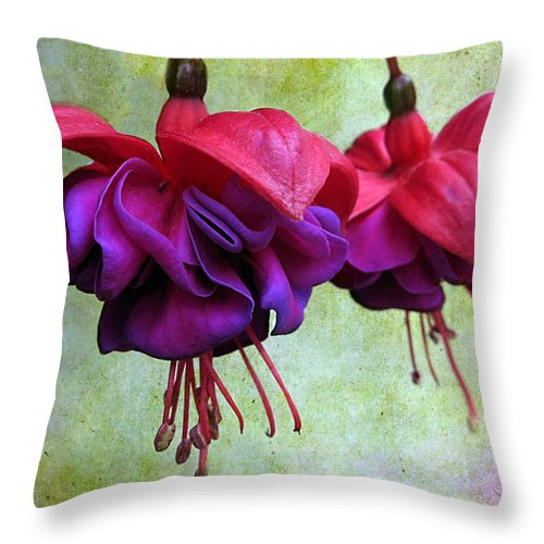 Flowers Throw Pillow featuring the photograph Fuschia by Jessica Jenney