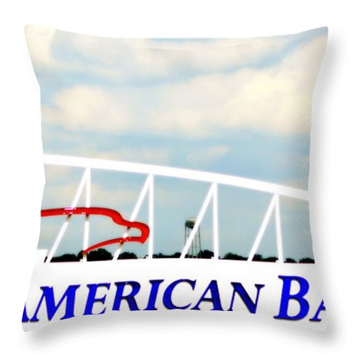 Sign Throw Pillow featuring the photograph Gabp Sign by Kathy Barney