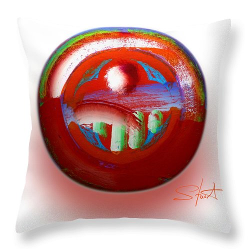 Mother Earth Throw Pillow featuring the painting Gaeia by Charles Stuart