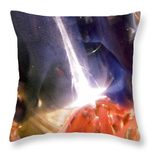 Outer Space Throw Pillow featuring the photograph Galactic Beacon by Stephanie Moore