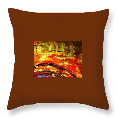 Galaxy Throw Pillow featuring the digital art Galaxy by Natalie Holland