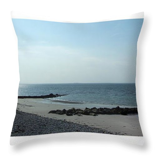 Irish Throw Pillow featuring the photograph Galway Bay At Salt Hill Park Galway Ireland by Teresa Mucha