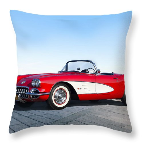 Chevrolet Throw Pillow featuring the digital art Game Of Chrome by Peter Chilelli