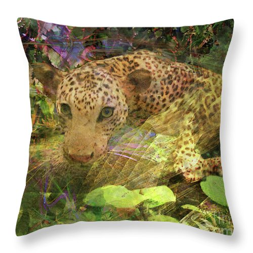 Game Spotting Throw Pillow featuring the digital art Game Spotting by John Beck