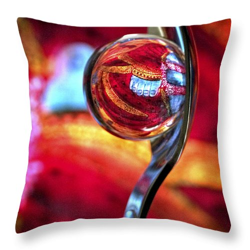 Ball Throw Pillow featuring the photograph Ganesh Spoon by Skip Hunt