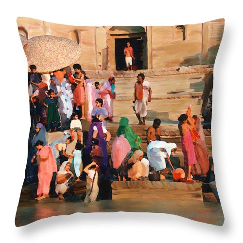 Ganges River Throw Pillow featuring the photograph Ganges by Kurt Van Wagner