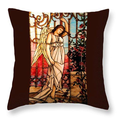 Angel Throw Pillow featuring the photograph Garden Angel by Kristin Elmquist