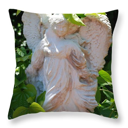 Angels Throw Pillow featuring the photograph Garden Angel by Rob Hans