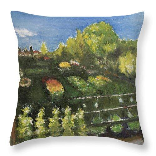 Garden Throw Pillow featuring the painting Garden by Craig Newland