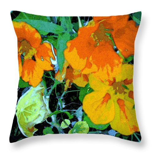 Garden Throw Pillow featuring the digital art Garden Flavor by Winsome Gunning
