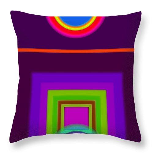 Classical Throw Pillow featuring the digital art Garden Mauve by Charles Stuart