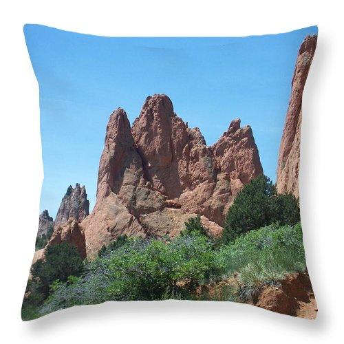 Colorado Throw Pillow featuring the photograph Garden Of The Gods 2 by Anita Burgermeister