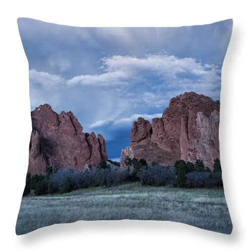 Arid Climate Throw Pillow featuring the photograph Garden Of The Gods 5 by Alan Kepler