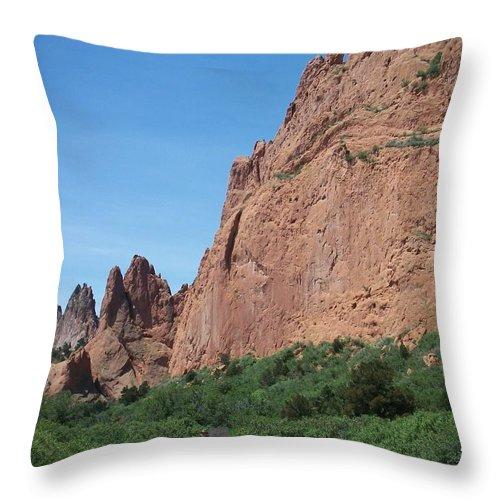 Colorado Throw Pillow featuring the photograph Garden Of The Gods by Anita Burgermeister