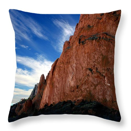 Garden Of The Gods Throw Pillow featuring the photograph Garden Of The Gods by Anthony Jones