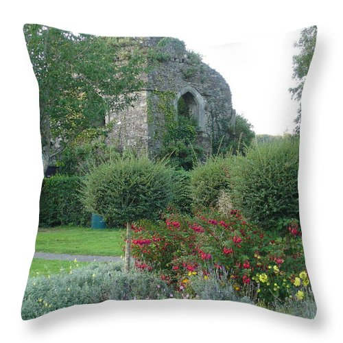 Inistioge Throw Pillow featuring the photograph Garden Path by Kelly Mezzapelle