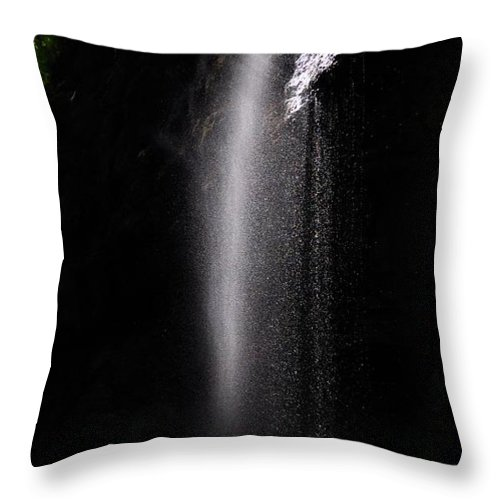 Water Throw Pillow featuring the photograph Garmisch Gorge Water Fall by Noah Cole