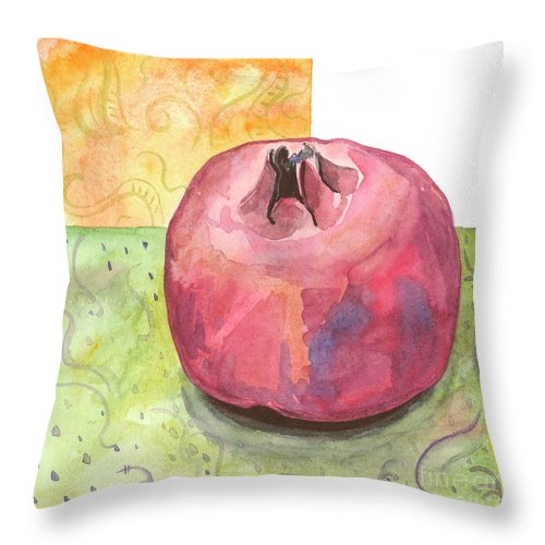 Garnet Throw Pillow featuring the painting Garnet by Yana Sadykova