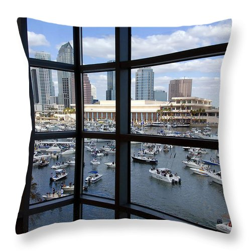 Gasparilla Throw Pillow featuring the photograph Gasparilla Invasion by David Lee Thompson