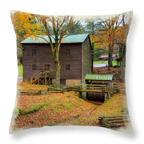 Tree Throw Pillow featuring the photograph Gastons Mill 2 by John M Bailey