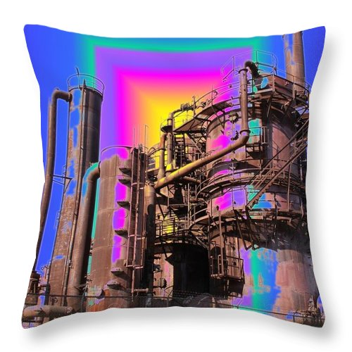 Seattle Throw Pillow featuring the photograph Gasworks Park 3 by Tim Allen