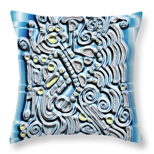 Digital Throw Pillow featuring the digital art Gate To The Future by Mark Sellers