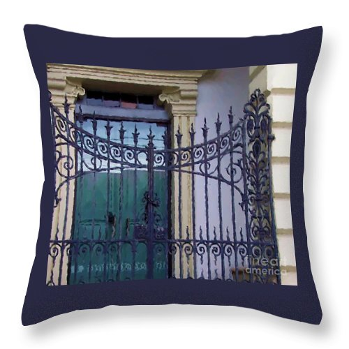 Gate Throw Pillow featuring the photograph Gated by Debbi Granruth