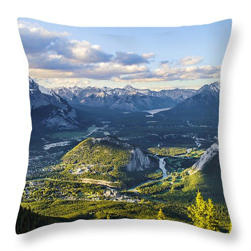 Alberta Throw Pillow featuring the photograph Gateway to Heaven by Mohsen Kamalzadeh