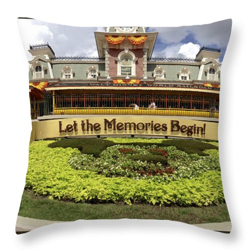 Walt Throw Pillow featuring the photograph Gateway To The Magic Panorama by Stuart Rosenthal