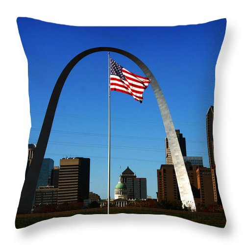 Arch Throw Pillow featuring the photograph Gateway To The West by Anthony Jones
