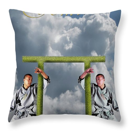 Gemini Throw Pillow featuring the digital art Gemini by Virginia Palomeque