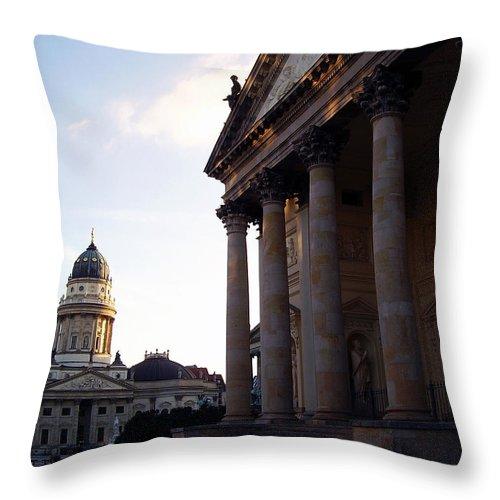 Gendarmenmarkt Throw Pillow featuring the photograph Gendarmenmarkt by Flavia Westerwelle
